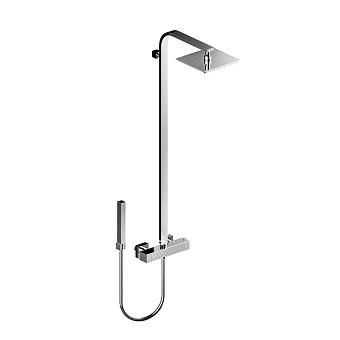 Stella Casanova Душевой комплект 3287TM/33: термостатический смеситель, верхний+ручной душ, цвет: хром