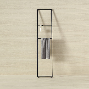 Burgbad Coco Стеллаж для полотенец 40x180 см, цвет черный