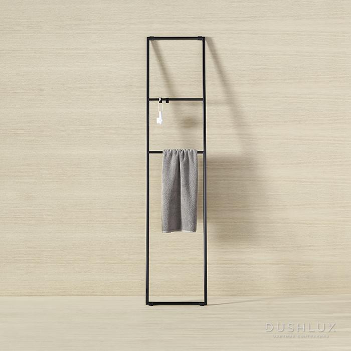 Burgbad Coco Стеллаж для полотенец 40x180 см, подвесной монтаж, цвет черный