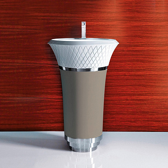 Falper George Раковина 58х58х87 см, 1 отв., напольная, выпуск в стену, цвет: Pavillon grey