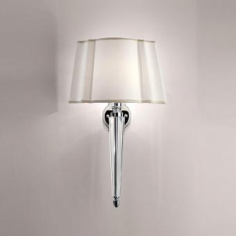 Devon&Devon Crystal Memphis Светильник настенный с абажуром 31*23*h51,5cм, IP20, фурнитура: хром