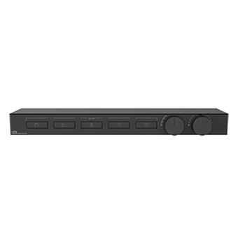 Gessi Hi-Fi Термостат для душа, с вкл. до 5 источников одновременно, с полкой из черного мат. стекла, цвет: Black Metal Brushed PVD