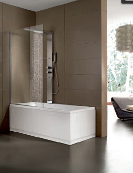 Hafro Era Plus Box Ванна 180x120/70см угл. SX с душ.шторкой и колонной PROFESSIONAL W/A: гидро+аэромассаж, озонотерапия, air clean, термостат, цвет: белый