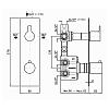 Zucchetti On Встроенный термостатический смеситель для душа, 2-х канальный, цвет: хром