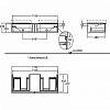 Geberit iCon Тумба с раковиной 119х24х47.7см, с 2 отв., подвесная, с двумя выдвижными ящиками и полкой, цвет: белый
