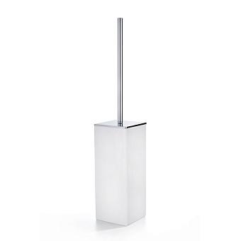 3SC Mood White Туалетный ёршик, напольный, композит Solid Surface, цвет: белый матовый/хром