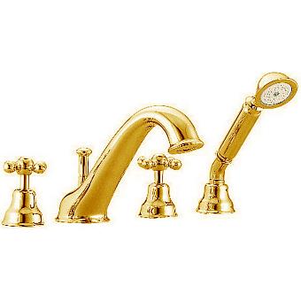 CISAL Arcana Ceramic Смеситель на борт ванны на 4 отверстия, цвет золото