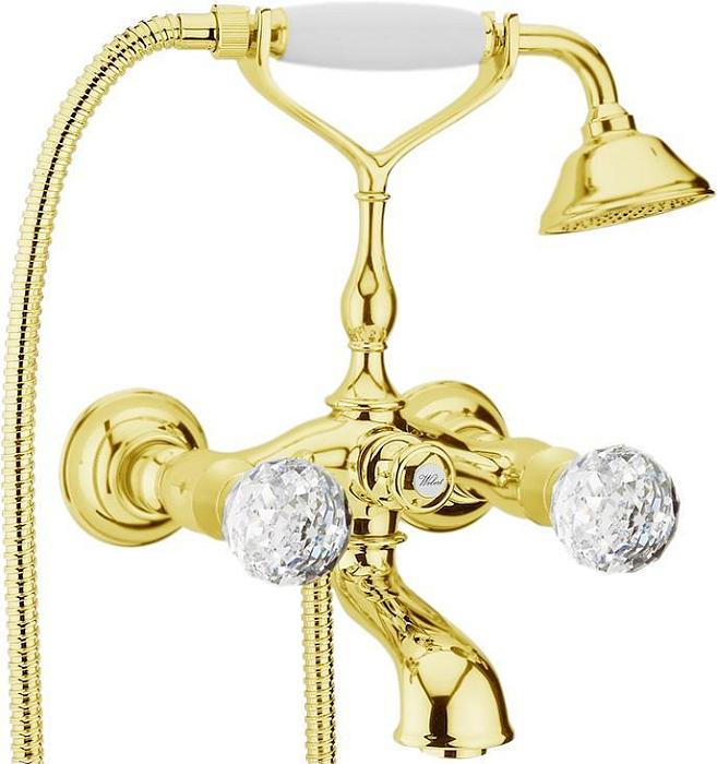 Смеситель для ванны Webert Karenina КА720201 Золото/кристаллы Swarovski