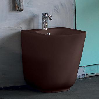 Kerasan Tribeca Биде напольное пристенное 55 см, с 1 отв под смеситель, c креплением WB5N, цвет: Borgogna matt
