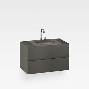 Armani Roca Island Тумба подвесная с раковиной 100х59хh60см со столешницей, сифон, 2 ящика, цвет: nero