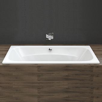 BETTE Duo Ванна 180х80х42 см, с шумоизоляцией, BetteGlasur® Plus, цвет: белый