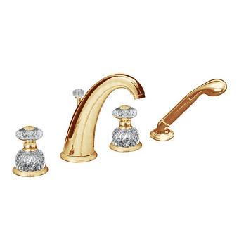Cristal et Bronze Millesime Dome Смесители для ванны, цвет золото 24 к.