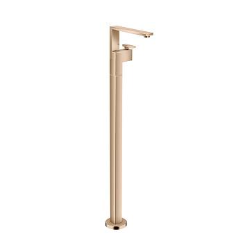 Axor Edge Смеситель для раковины, напольный, с донным клапаном push/open, излив 235мм, цвет: красное золото