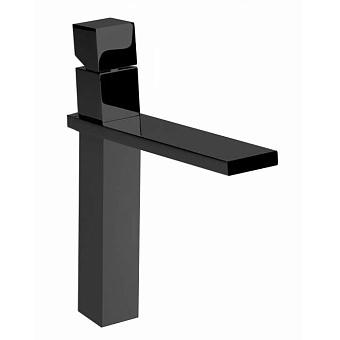 """Bossini Cube Смеситель для раковины на 1 отв., высокий с заглушкой 1""""1/4, цвет: черный матовый"""
