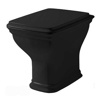 Artceram Civitas Унитаз напольный, 54х36хh42см, слив в стену, с крепежом, цвет: черный глянцевый