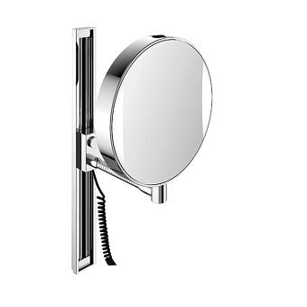 EMCO Prime Зеркало косметическое, подвесное, LED, Ø202мм,регулир.,snoer,3x/7x кратное увеличение, цвет: хром