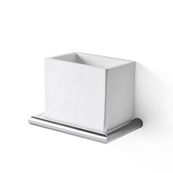 3SC Guy Стакан подвесной, композит Solid Surface, цвет: белый матовый/хром матовый
