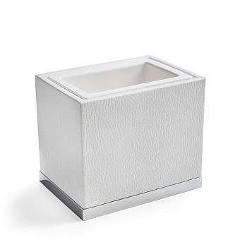 3SC Snowy Стакан настольный,  цвет: белая эко-кожа/хром