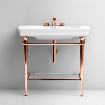 Artceram Civitas Металическая структура Quadra 70х40хh80,5см для раковины 90, полка стекло, цвет: розовое золото