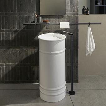 Agape Sen Напольный смеситель для ванны или напольной раковины, высота 73,7см, цвет: черный