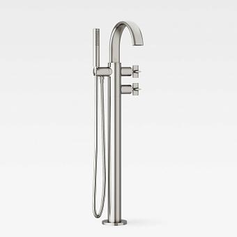 Armani Roca Baia Термостат для ванны напольный с руч. душем  и шлангом 1,7м, цвет: brushed steel