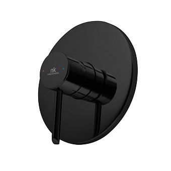Noken Round Смесителя для душа, встроенный, цвет: черный