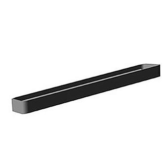Bertocci Fly Релинг/полотенцедержатель металлический 28 см, подвесной, цвет: черный матовый