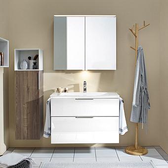 Burgbad Eqio Комплект мебели с раковиной 930 мм, цвет: белый глянец
