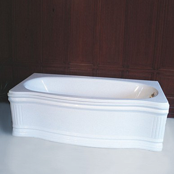 Herbeau Old Time Ванна пристенная с гидромассажем, 178,5х81 см, цвет белый