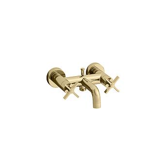 Cristina Cross Road Смеситель для ванны, 2 отв., цвет: золото