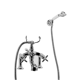 Stella Italica Смеситель на борт ванны на 2 отверстия 3274RG305/6 с ручным душем, цвет: хром