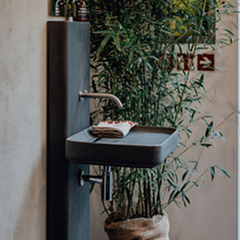 Agape Petra Раковина 64x42x9.5 см, без отв., накладная, из натурального камня, цвет: dark grey