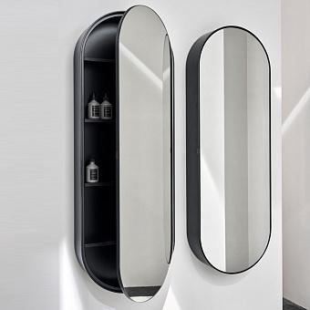 Cielo Elio Зеркало 140x50x12.8 см, цвет: матовый черный