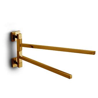 Bertocci Settecento Полотенцедержатель двойной 37 см, подвесной, цвет: золото
