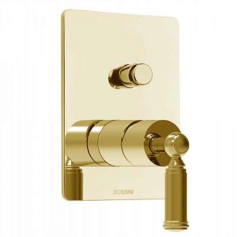 Bossini Liberty Смеситель для душа, встраиваемый, с девиаторм 2 направления, цвет: золото