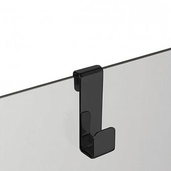 3SC APPY Крючок навесной на стекло, одинарный, цвет: черный матовый