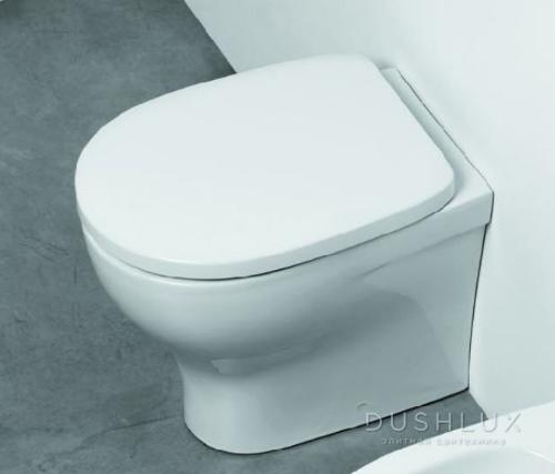 AZZURRA Pratica Унитаз приставной 52,5x34,5см слив универсальный, цвет: белый