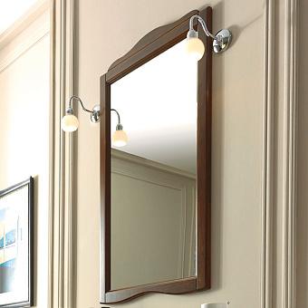 KERASAN Retro Зеркало в деревянной раме 63xh116см, цвет: noce