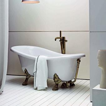 Azzurra Ванна отдельностоящая 170х76х59h, цвет белый, с ножками и сливом-переливом цвета бронза
