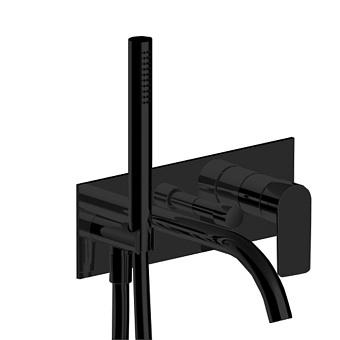Fantini Myo Смеситель для раковины, настенный, цвет: черный матовый