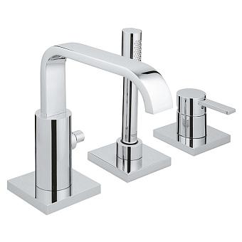 Grohe Allure Смеситель однорычажный для ванны на 3 отверстия комплект верхней монтажной части для корпуса 33339000