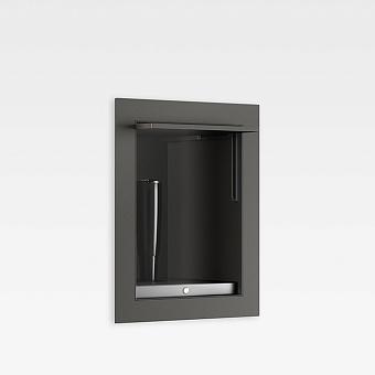 Armani Roca Island Комплект: Гигиенический выдвижной душ встроенный в шкафчик, шланг 1.8 м, цвет: nero