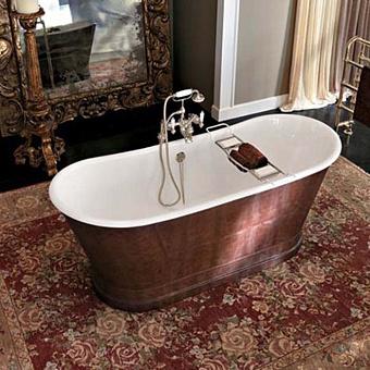 Gentry Home York Ванна отдельно стоящая 170х68хh69,5 см с отделкой из коричневой кожи