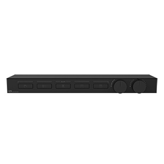 Gessi Hi-Fi Термостат для душа, с вкл. до 5 источников одновременно, с полкой из черного мат. стекла, цвет: Black Metal PVD