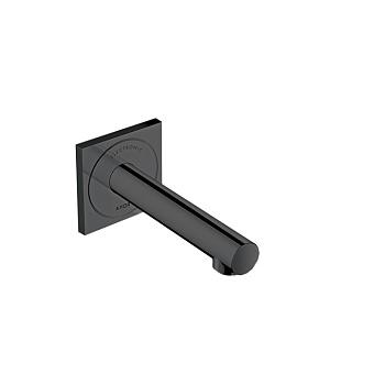 Axor Uno Смеситель для раковины электронный, настенный, излив: 160см, цвет Полированный черный хром