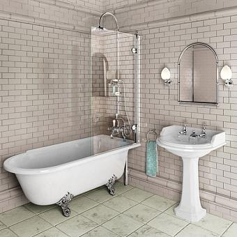 Burlington Britton Шторка для ванной с панелью, 1450x850мм, цвет: хром