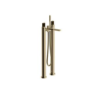 Fantini Venezia In Смеситель для ванны, напольный,  излив 215 мм, цвет: Matt British Gold PVD