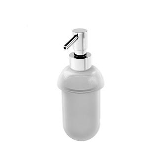 Stella 130 Дозатор для мыла, стекло матовое, цвет: хром