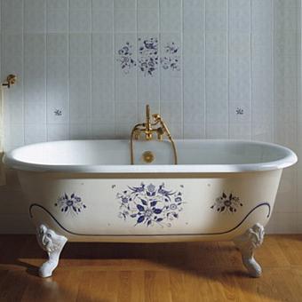 Herbeau Josephine Ванна свободностоящяя на ножках, 154х78х47,5 см, цвет белый с декором