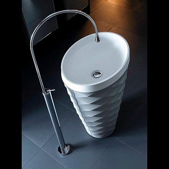 Karol Free Design Раковина 60х45х91 см, без отв., отдельностоящая, цвет: Grey Scuro